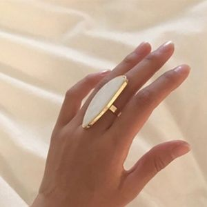 Adjustable Oval Geometric Boho Ring New